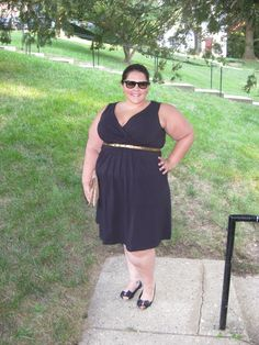 Black dress from Lands End  http://bodylovefatshion.blogspot.com