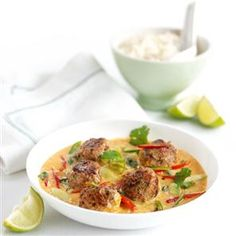 Thai meatball coconut curry Recipe | delicious. Magazine free recipes