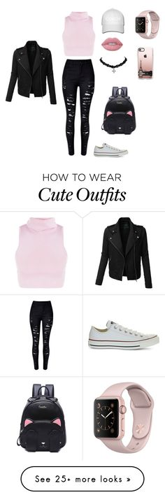 """""""Automnal Outfit """" by cathstyles on Polyvore featuring Converse, Casetify, Lime Crime and LE3NO"""