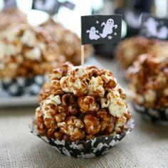 Nutella Popcorn Balls plus 9 more Spooktacular Halloween popcorn ball recipes