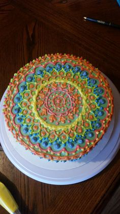 Another colorful cake! #cake #birthday #chocolate #food #dessert #yummy #love #baking #foodporn #sweet #recipe