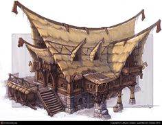 Thatched house concept by Artyom Vlaskin | 2D | CGSociety
