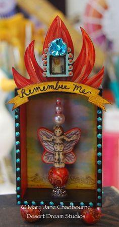 Mini Day of the Dead Shrine by MJ Chadbourne/Desert Dream Studios