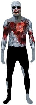 PartyBell.com - Beating Heart Zombie Morphsuit Adult Costume