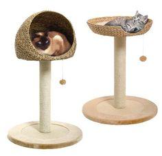 Cat Beds And Toys | Leaf Pedestal Cat Beds | moderncat :: cat products, cat toys, cat ...