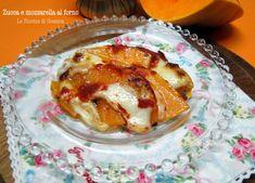 Zucca e mozzarella al forno