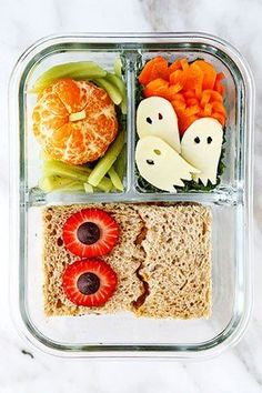 Healthy Halloween School Lunch | Pickled Plum | Easy Asian Recipes | Recipe | Healthy lunches for kids, Kids halloween food, Lunch snacks, Good Healthy Recipe Kids Lunch For School, Healthy Lunches For Kids, Lunch Snacks, Clean Eating Snacks, Kids Meals, Healthy Meals, Work Lunches, Healthy Lunches For School, Kids School Lunch Ideas
