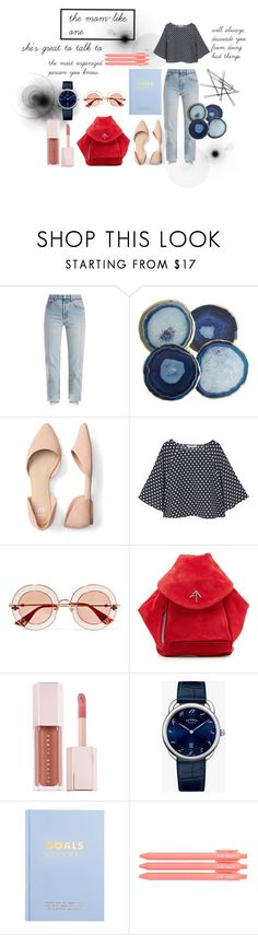 """Middle School Stereotypes: Mom-like one"" by xandrella-1128 ❤ liked on Polyvore featuring Vetements, MANGO, Gucci, MANU Atelier and kikki.K"