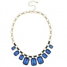 Mood Graduated blue facet stone drop necklace - perfect for a day at the races! #fashion