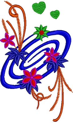 Pretty Floral Embroidery Design 98 | Free Embroidery Designs Download | Free Machine Embroidery Designs | Free Embroidery Patterns