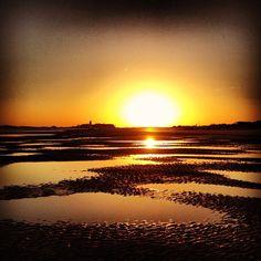 Sunset on Tybee Island, GA, via emilyyheill on Instagram #tybee #beach #travel #sunset