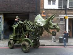 Behold the Triceratops Tractor!