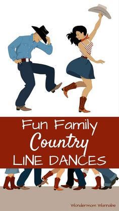These popular country line dances are fun for all ages, making them the perfect way to get the family up and moving together. These popular country line dances are so much fun to learn as a family. What a great idea for a free and easy family activity! Line Dancing Steps, Country Line Dancing, Country Dance Lessons, Country Dance Songs, Dance Workout Videos, Dance Videos, Dance Exercise, Dance Workouts, Exercise Workouts
