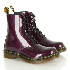 Dr Martens Women's Tonga Purple Lace Up Patent Boot
