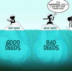 Deeds... Allah knows best