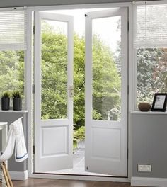 Internal french doors with partial-height sidelights like to the left of the picture, external doors with full-height sidelights like to the right? Narrow French Doors, Sliding French Doors, Double French Doors, Glass French Doors, French Doors Patio, Glass Doors, Sliding Door, French Patio, French Windows