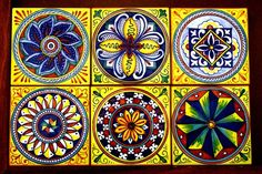 Would love to make a café table with a top of Italian deruta tiles like this.