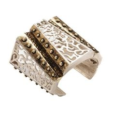 Empire Cuff . Warrior queen meets Art Deco in this two-toned metal cuff. Wear one on each wrist for a truly fabulous effect. $310.00