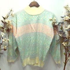 Vintage Sweaters - Vintage Pastel Sweater