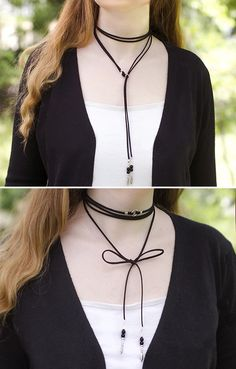 Black leather wrap necklace | Trending now choker for women | Black Friday sale #fashion #chokernecklace #blackfriday