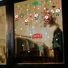 Frohe Weihnachten abnehmbare DIY Wand Aufkleber Shop Fenster Aufkleber Noel FG#1