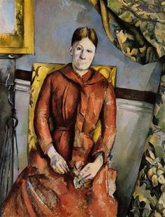 Madame Cezanne in a Yellow Chair, 1890 by Paul Cezanne, Mature period. Post-Impressionism. portrait