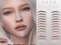 The Sims 4 mody do gry: SayaSims - Brwi Sims 4 Teen, Sims 5, Sims 4 Cas, Sims 4 Game Mods, Sims Mods, Kendall Jenner Eyebrows, The Sims 4 Bebes, Sims 4 Characters, Play Sims