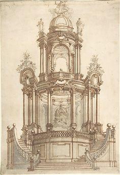 Anonymous, Italian, North Italy, 18th century | Designs for a Theatrum Sacrum | The Met