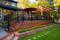 20 Timber Decking Designs that can Append Beauty of your Homes Home Design Lover Cool Deck, Diy Deck, Deck Patio, Concrete Patio, Concrete Stairs, Pergola Designs, Patio Design, Backyard Designs, Pergola Ideas