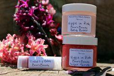 Valentines Gift // PINK Hippie Gift Set // Vegan // Organic // Body Butter // Lip Balm // Sugar Scrub - https://www.etsy.com/your/shops/BearsBeauty/reviews?ref=shop_info