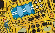 car parts - alex eben meyer / illustration