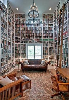 Home Library-this person better have a fail safe filing system, or pride & prejudice could be lost forever.