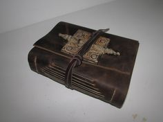 Handmade Brown Leather Bound Journal Travel by MgDesignSecondWind
