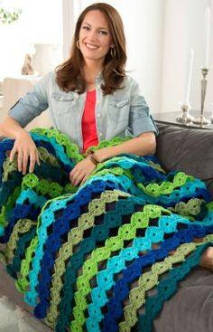 FREE crochet pattern for Yo-Yo Throw