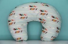 boppy slip cover colorful arrows on mint large scale by iviebaby, $45.00