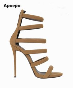 ded704f07ee Hot selling high quality suede sandal sexy open toe cutouts gladiator sandal  2017 summer high heel