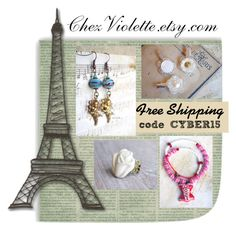 Cyber Sale - ChezViolette.etsy.com by chez-violette on Polyvore featuring mode and Retrò #SPSTeam #CYBER15 #CYBERWEEKSALE