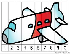 Airplane Activities, Airplane Crafts, Kindergarten Math Activities, Outdoor Activities For Kids, Math For Kids, Number Activities, Preschool Curriculum, Airport Theme, Transportation Theme Preschool