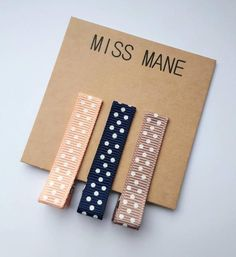 CORAL, GINGER SNAP AND NAVY DOTTY RIBBON CLIPS  Miss Mane ribbon clips are comfortable, stylish and practical! Lead + Nickel Free Clips. We only use the finest materials.  Perfect for sweeping that fringe out of the way or taming wispy hair on the front, back and sides :)  Our ribbon clips come complete with our unique no slip grip - Excellent for fine hair. Wispy Hair, Baby Hair Clips, Ginger Snaps, Fine Hair, Free Design, Polka Dots, Ribbon, Coral, Navy