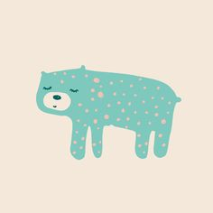 Dotted bear - illustration by Studio Sjoesjoe - Joëlle Wehkamp // print is available for licensing