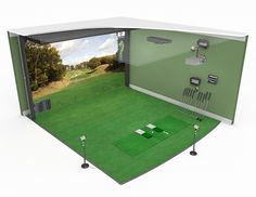 Check out this awesome golf simulator room bring any room for Golf simulator room dimensions