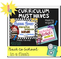 Interactive Notebooks for Reading Street: 3rd & 4th grade examples shown