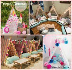Ideas para decorar una celebración con Teepees!..si quieres hacerlo tu misma revisa mi facebook: www.facebook.com/SusanitasParty con un video explicativo!.. #Ideas #teepees #partyideas #partydecor #ideasdecoracion #cumpleaños #ideasfiesta #teepeepartyideas #susanitasparty #talentovenezolano