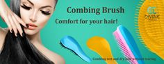 Combing hair brush for wet and dry hair without tearing! Dry Hair, Hair Brush, Wet And Dry, Your Hair, Ads, Cosmetics, Beauty, Color, Colour