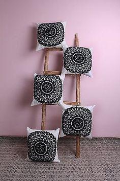 "5 Pcs All India Design Suzani Embroidered Cushion Cover 16x16"" Home Decorative Pillow Cover Case Sofa Decor Boho Bohemian designer cushion 1 by ArtofPinkcity on Etsy"