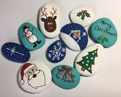 Step by step tutorial with Artistro paint pens. Good rock painting idea for kids and adults Rock Painting Ideas Easy, Rock Painting Designs, Painting For Kids, Pebble Painting, Pebble Art, Stone Painting, Christmas Rock, A Christmas Story, Stone Crafts