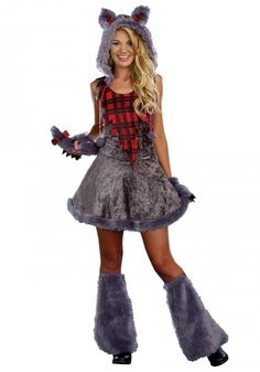 Here's a cute teen werewolf costume for girls.