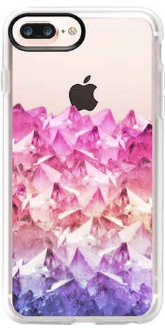 Casetify Protective iPhone 7 Plus Case and iPhone 7 Cases. Other Gem iPhone Covers - Pink Shadows Of Quartz by Emanuela Carratoni | Casetify