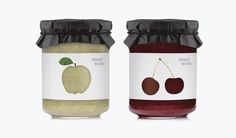muy mio jam packaging design by espluga+associates Honey Packaging, Fruit Packaging, Food Packaging Design, Bottle Packaging, Packaging Design Inspiration, Brand Packaging, Jar Design, Bottle Design, Food Design