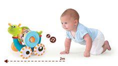 L'escargot roulant Yookidoo. Dès 10 mois, bébé se déplace à 4 pattes, ramasse et tient entre ses mains des objets plus volumineu